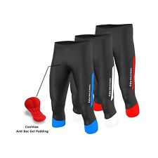 FDX mens Quality cycling pant 3/4 Shorts Anti Bac Gel padded Tights Bike shorts