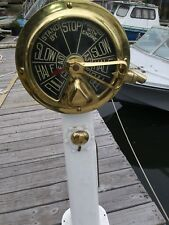 Vintage Binnacle : Brass Ship Telegraph Binnacle
