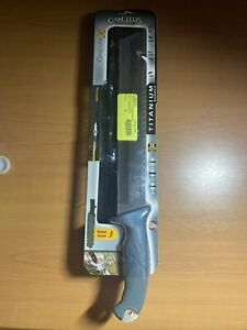 """Camillus Carnivore Inject Machete Fixed Blade Knife 12"""" 420 Blade Rubber Handle"""