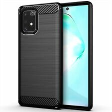 "For Samsung Galaxy S10 Lite Case Carbon Fibre Gel Cover Ultra Slim Black (6.7"")"