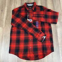 Men's Woolrich Flannel Shirt Size Medium Button Down Red/Black NWT