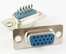Connecteur à souder VGA Femelle 15 broches -Female HD15 solder connector 15 pins