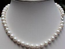 AAA 51 cm 8 mm  Natürlich Süßwasser Perlen Schmuck Halskette Perlenkette Collier