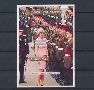 LO11494 Cook Islands overprint princess Diana royalty good sheet MNH