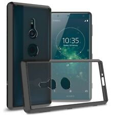 Clear w/ Black Rim Slim Fit TPU Bumpers Cover Phone Case for Sony Xperia XZ2