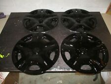 "Set of 4 New 2010 2011 2012 Versa 15"" Hubcaps Wheel Covers Black 53083"