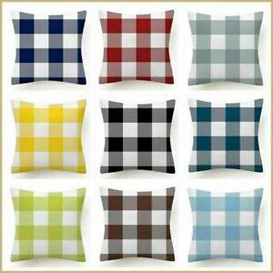 Plaid PILLOW COVER Buffalo Check Checkered Home Decor Farmhouse Cushion Case