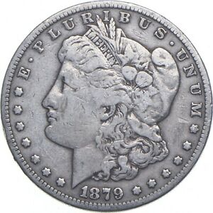 Early - 1879-S Morgan Silver Dollar - 90% US Coin *772