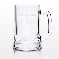 Personalised Glass Pint Tankard - Engraved Free - Birthdays Weddings Best Man