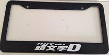 Initial D Classic - Black LICENSE plate frame Qty 2 Drift Jdm AE86 Hachiroku