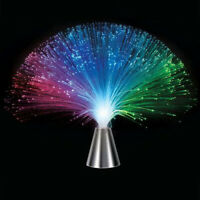 Plastic Colorful Changing Color Fiber Optic Fountain LED Night Light Sky Lamp