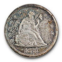 1875 S Twenty Cent Piece About Uncirculated to Mint State Type Coin #2724