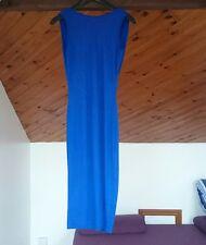 Ladies Backless Blue Midi Dress