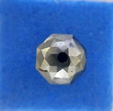 2.66TCW Natural Loose Diamond Drilled Antique Round Faceted Bead Z Black Color