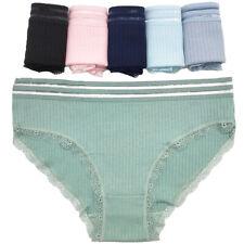 3,6 Pack Women's Cotton Underwear Ladies Solid Low Rise Briefs Panties Knickers
