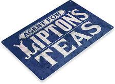 TIN SIGN Lipton's Teas Metal Art Café Farm Coffee Espresso Shop Kitchen A858