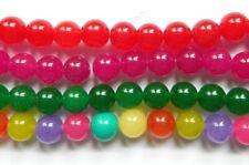 Semi Precious Stone - Jade Smooth Round Beads