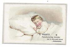 Vintage company postcard~Eleventh St Philadelphia PA~Hertz manufacturing Jeweler