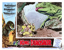 KING DINOSAUR LOBBY SCENE CARD # 5 POSTER 1955 WILLIAM BRYANT WANDA CURTIS