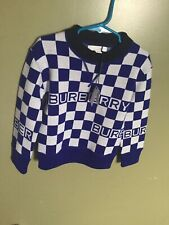 Burberry Boys Check Logo Sweater Size 4Y (Authentic)