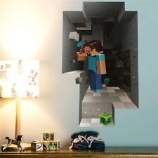 Minecraft Wall Stickers Cartoon 3D Popular Game Sticker for Kids Room Decoration