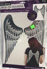 Iron On Angel Wings Foil Metallic Transfer Fashion Art Next Style Craft