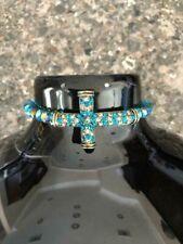 Fashion Sideway Crystal Rhinestone Cross Multi Color Beads Bracelet