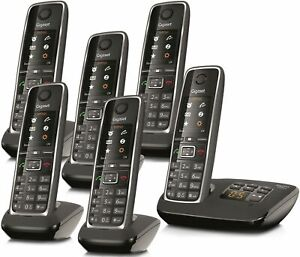 Gigaset C530A Cordless Phone Answer Machine Loudspeaker 6 Handsets (Refurbished)