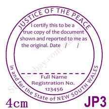 Personalised Custom Self ink Certify Justice of Peace/JP True Copy Stamp 40mmJP3