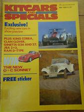 Kitcars & Specials May 1986 Ginetta G26 & G27, JBA, Transformer HF2000, Clan