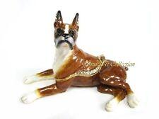 Boxer Dog Bejeweled Trinket Box