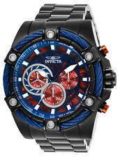 New Mens Invicta 27467 Bolt Quartz Chronograph Red, Blue Dial 52mm Watch