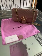 Gucci Marmont Dusty Pink Leather cr