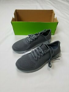 Crocs Men's Literide Pacer M Shoes Charcoal/Ligth Grey Size 11 New In Box