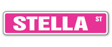 STELLA Street Sign Childrens Name Room Decal  Indoor/Outdoor