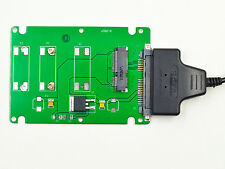 "New Mini PCI-E mSATA SSD to 2.5"" SATA adapter with thickness case + Sata to USB"