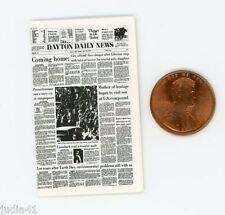 Miniature Dollhouse Newspaper /Dayton Daily News