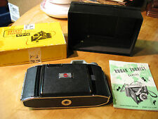 KODAK   TOURIST  CAMERA  BELLOWS  w/ BOX  &  BOOKLET  VG
