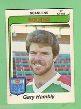 1980  SOUTH SYDNEY RABBITOHS  SCANLENS RUGBY LEAGUE  CARD #97  GARY HAMBLY