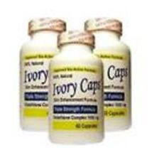 3 IVORY CAPS GLUTATHIONE SKIN WHITENING 1500 MG THISTLE exp 5/2019 or better
