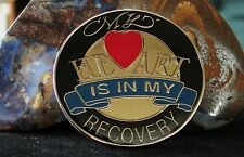 Alcoholics Anonymous My Heart  is in my Recovery AA NA Narcotics Medallion Coin