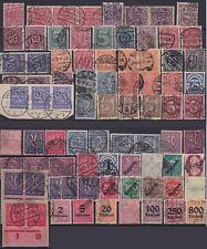 DR Dienst Sammlung ex Mi Nr. 16 - 98, tw. geprüft Infla, gest., Dienstmarken