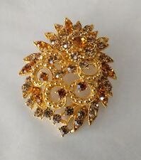 Brooch Broach pin for clothes scarves scarf hijab gold stone beautiful elegant