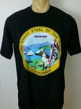 GREAT SEAL Streetwise Clothing Men's T Shirt Black Sz 3XL State Of California 3X