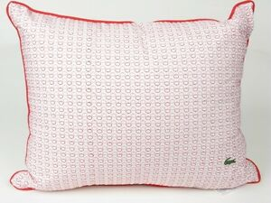 Lacoste CROCOPOLIS Strawberry and white Oval Throw Pillow New