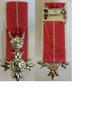 MINIATURE MOUNTED MBE MILITARY MEDAL, supplied as seen with a pin brooch to wear