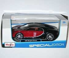 1 24 Scale Model Bugatti Chiron Red Maisto M31514