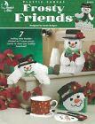 Frosty Friends Plastic Canvas Door Knob Hanger Candy Dish Tissue Cover Shelf