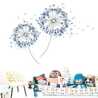 Blue Flying Dandelion Plant Vinyl Wall Decal Art Sticker Kids Baby Nursery