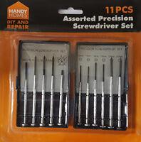 New 11 Pcs Mini Precision Screwdriver Set Jewelers Glasses Phone Repair Kit